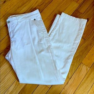 Anthropologie Pilcro White Hyphen Fit Pants